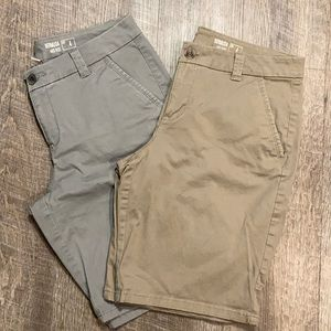 Sonoma set of two mid-rise Bermuda shorts